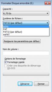 choix systeme de fichiers
