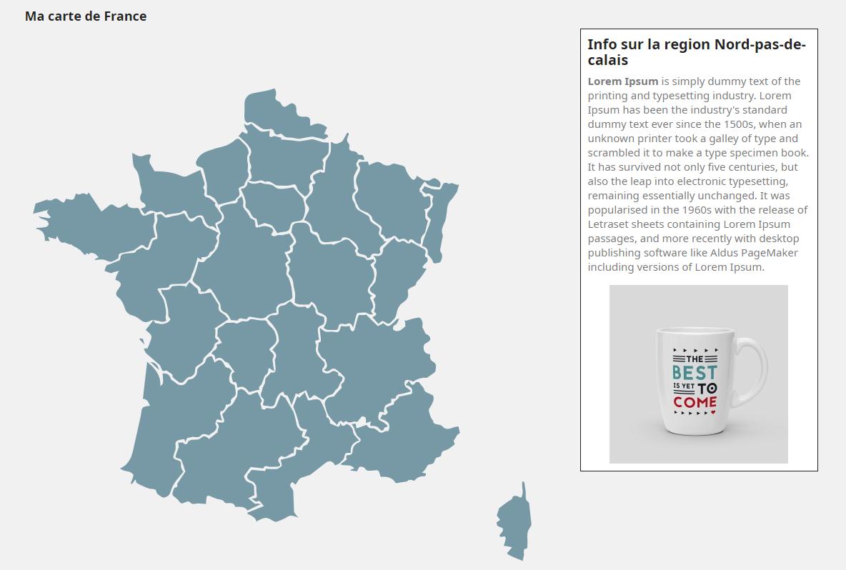 module carte de France Prestashop
